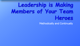 Leadership Training Slides